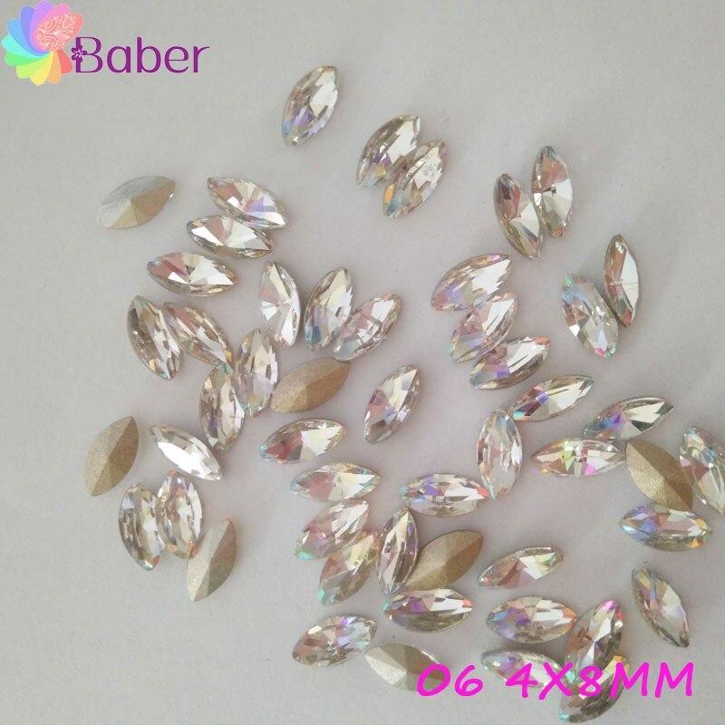 Wholesale 60pcs Colorful White Crystal 3d Nail Art Rhinestones Gems