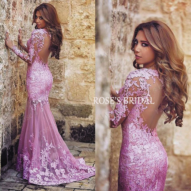 Vestiti lunghi cerimonia rosa