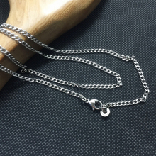 Pure titanium TA1 Fashion Women Necklace with Lobster Clasp Allergy resistant denim chain necklace Custom size 3mm*600 mm цена 2017