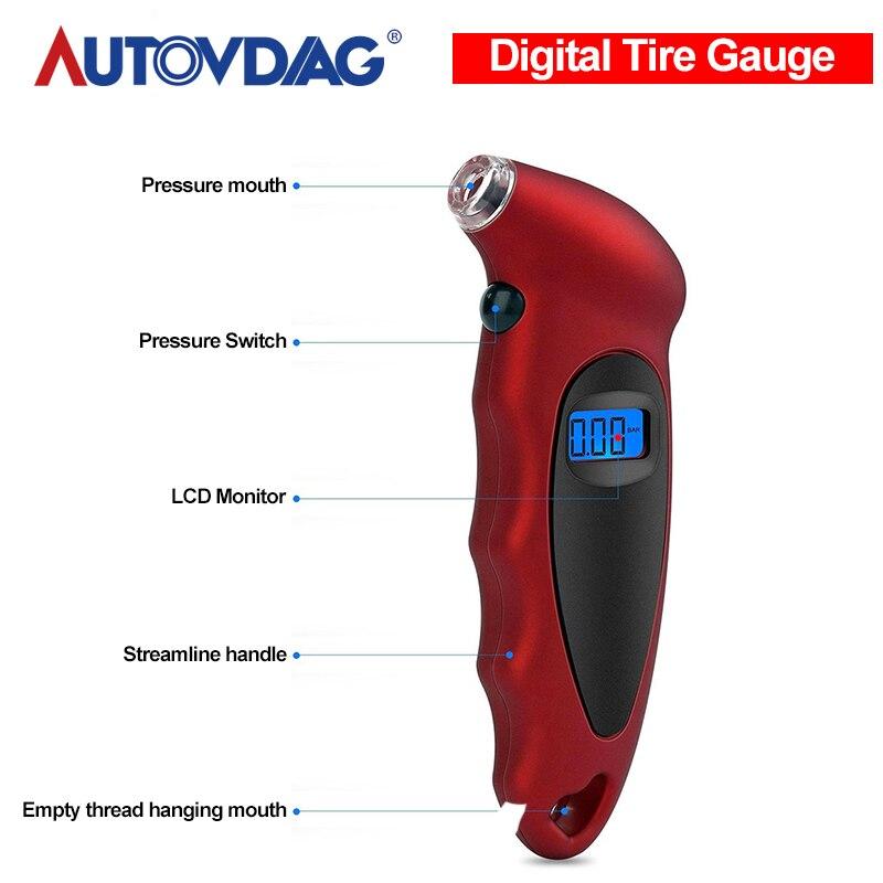 新しいオートカータイヤ空気圧ゲージタイヤTG105 空気圧テスターミニキーチェーンスタイルデジタルポータブル高精度バッテリー