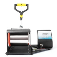 Mug Heat Press Machine Sublimation Printing Heavy Duty Durable Digital Temperature Control Adjustable Pressure Lever Hot