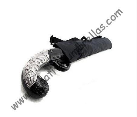 Пиштољска пластична ручка, пиштољски кишобран, 100% крема за сунчање, УПФ> 40 +, сунцобран, склопиви сунцобран, пословни модни кишобрани