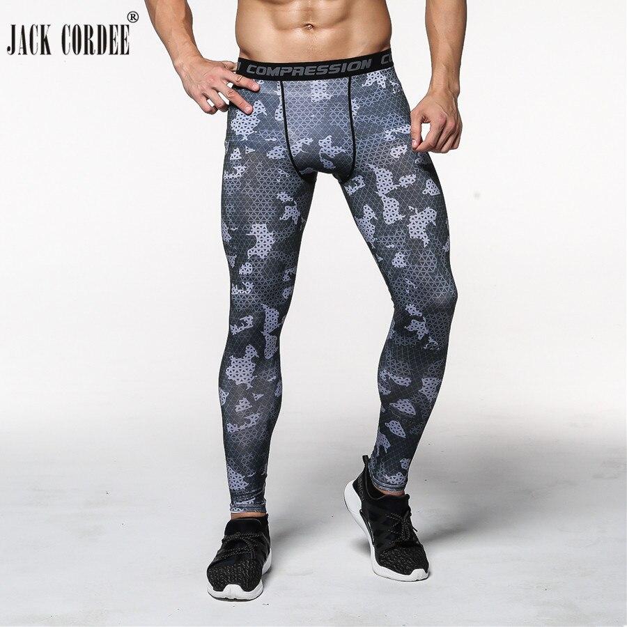 2018 Corredores Homens Calças De Compressão Calças Justas Casual Homem Calças de Camuflagem Do Exército Da Marca de Fitness Musculação Academias Justas Leggings