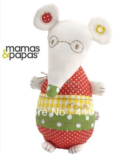 Free shipping 5pcs/lots United Kingdom MaMas&papas little mouse  baby toysYR-087