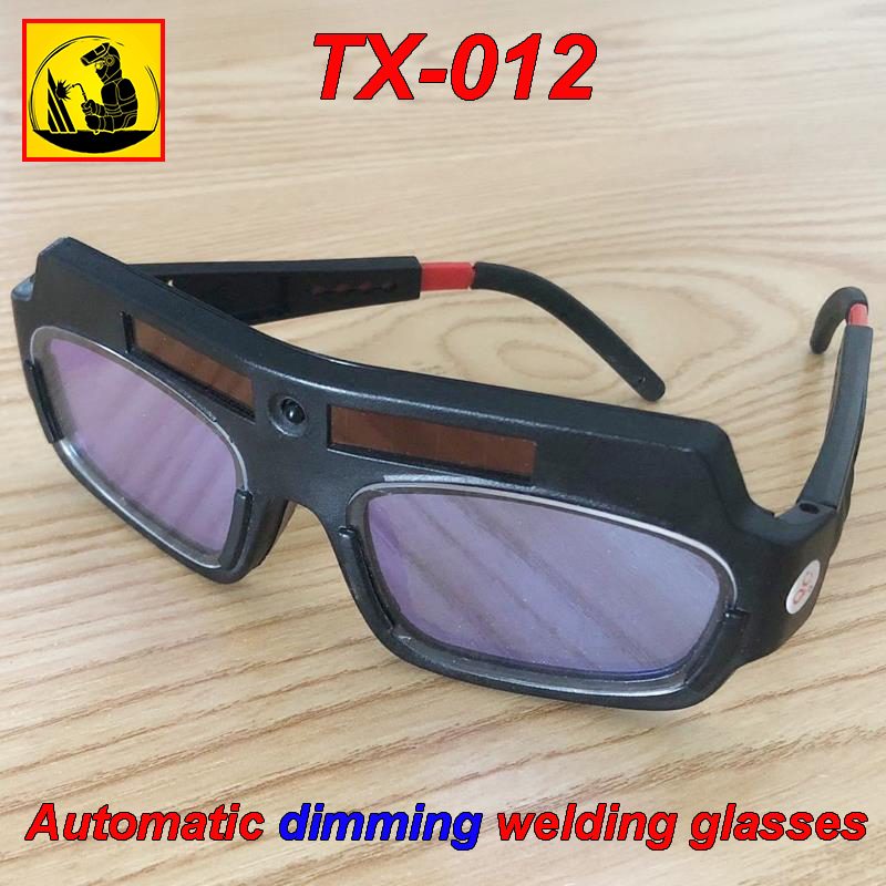 TX-012 Solar Energy Automatic Dimming Welding Glasses Double Layer Rapidly Lightening Goggles Welding Gas Cutting Safety Goggles