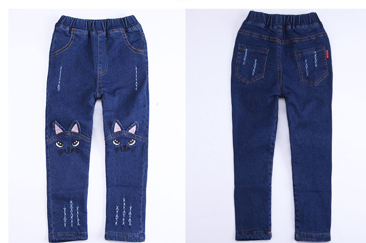 T-spring-autumn-child-cat-character-jeans-girls-pants-baby-jeans-trousers-child-pantalettes-3