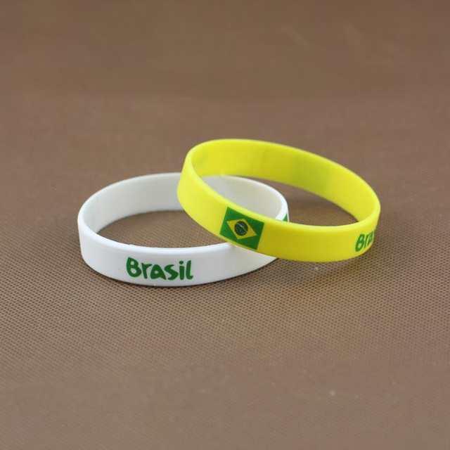 af7b050cd placeholder Varejo brasil copa do mundo de futebol esportes Souvenir  pulseira Silicone Gel de Silicone pulseiras de