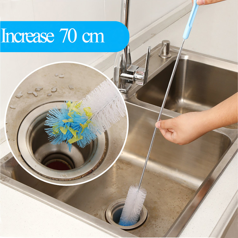 Creative Flexible Sewer Pipe Tube Cleaning Brush Sink Tub Toilet Pipe Cleaner Snake Brush Bathroom Kitchen Cleaning Tools