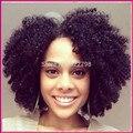 Top Quality Virgem Frente Brasileira Lace Wigs Com Nós Descorados Afro Kinky Onda Do Cabelo Humano Peruca Dianteira Do Laço Para O Preto mulheres