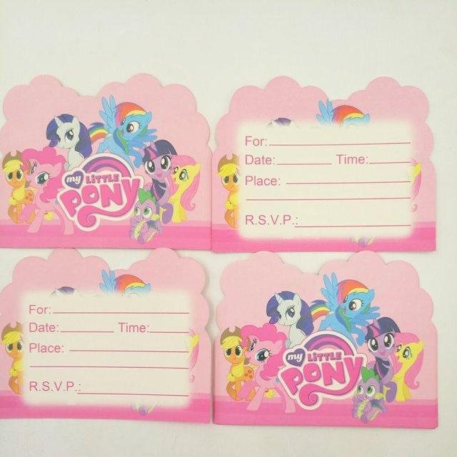 10pcbag my little pony party supplies invitation card children 10pcbag my little pony party supplies invitation card children birthday birthday invitation card kids stopboris Gallery