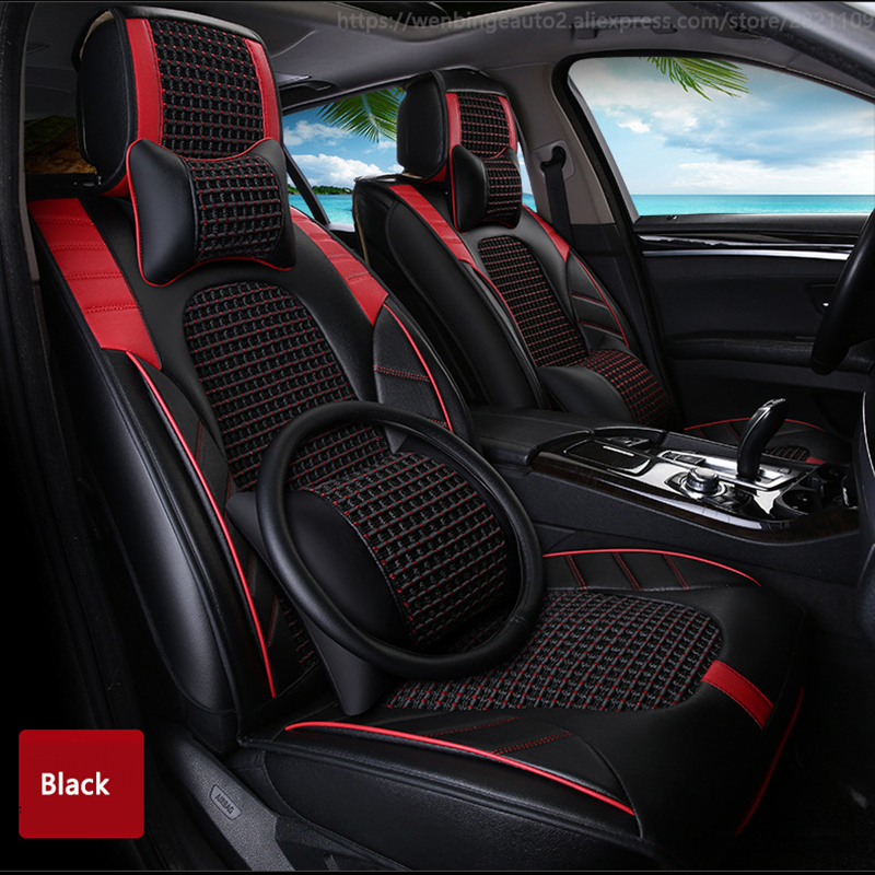 High quality Leather car <font><b>seat</b></font> <font><b>cover</b></font> for Benz A B C D E S series Vito Viano Sprinter Maybach CLA CL automobiles accessories <font><b>cover</b></font>