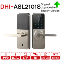 DH ASL2101S Bluetooth Cylinder Smart Lock App Mifare RFID Card Password Access Auto Electronic Safe Door Lock with logo