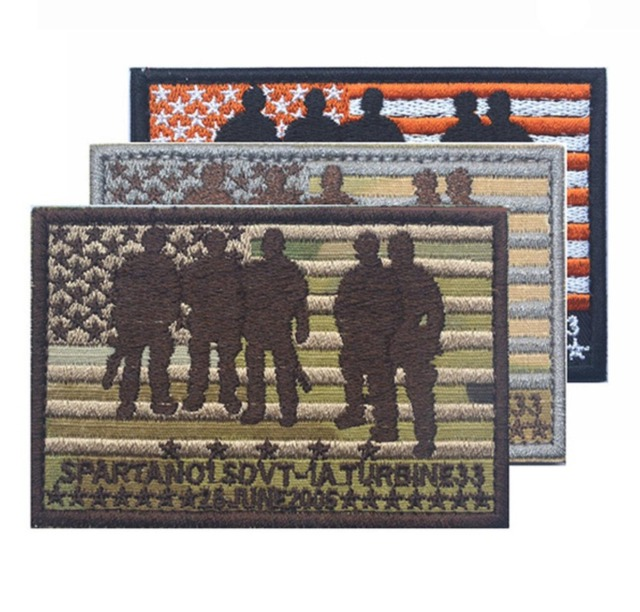 aab21a6236e Embroidery Navy SEALs Team 10 SDVT-1 Patch Spartan Tactical Badge America  Flag Patches Military Armband Combat Brassard