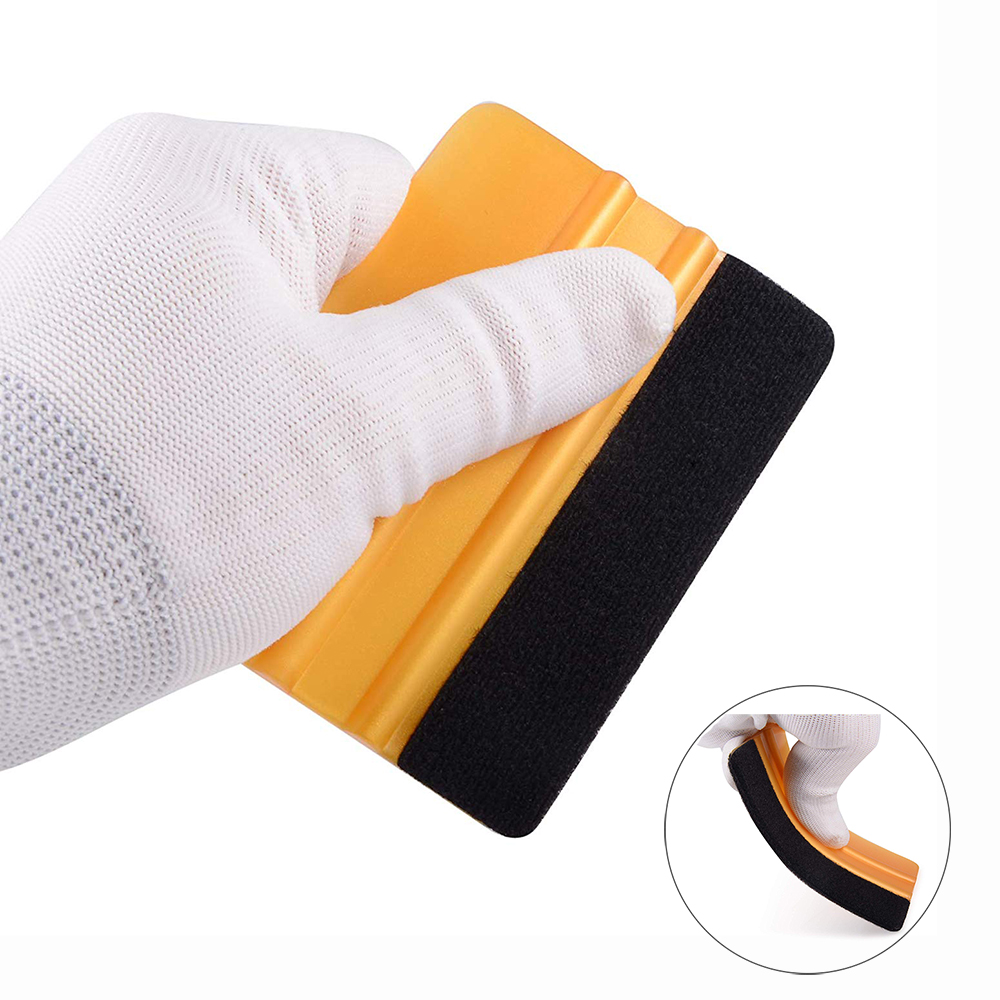EHDIS Vinyl Wrap Car Film Felt Squeegee Carbon Fiber Wrapping Tool Auto Foil Window Tint Household Car Cleaning Tool Ice Scraper