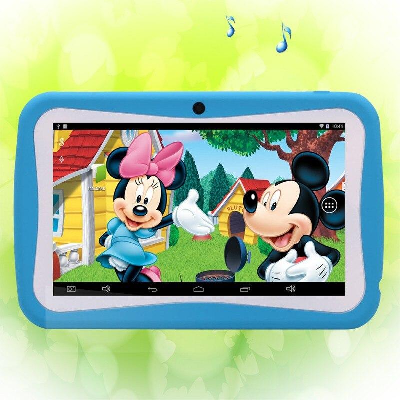 bilder für Hot Hot Hot Neue 7 Zoll Kinder Tabletten pc WiFi Quad core Dual-kamera 8 GB Android4.4 Kinder favoriten geschenke 9 10 zoll tablet