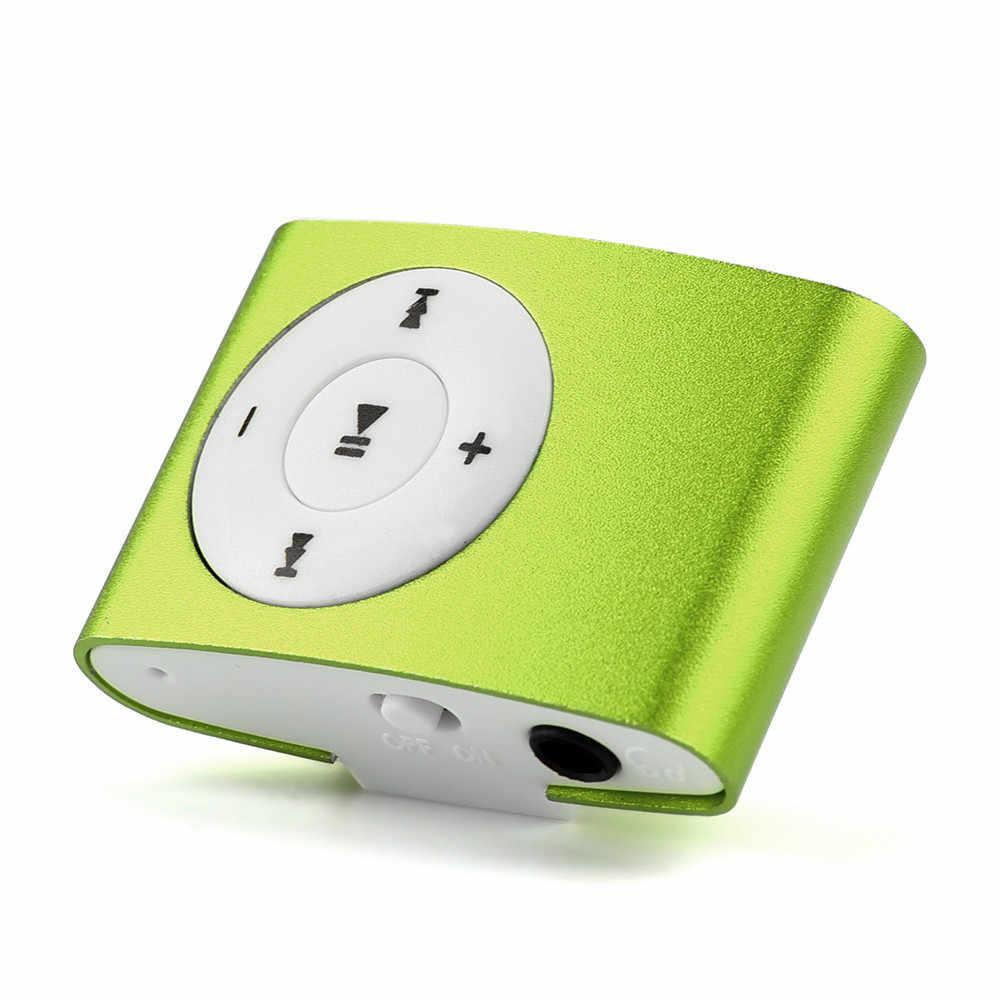 Klips mini USB MP3 odtwarzacz podpórka ekranu LCD 32 GB Micro karta SD TF materiał metalowy c0606