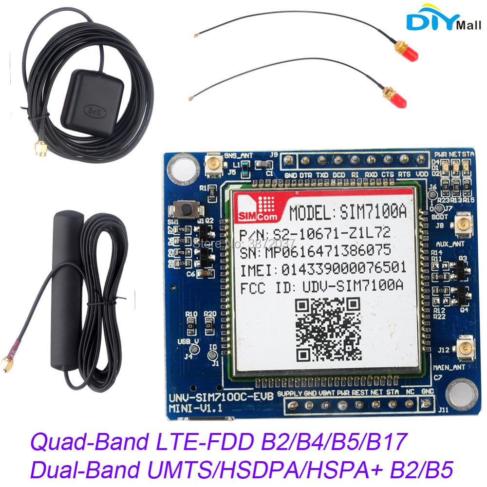 US Network SIM7100A Module 4G Development Board + Antenna for Arduino Raspberry Pi Android Linux Windows