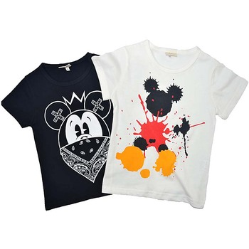 Boys Girls Summer T shirts Splash Mouse Print Children Tops Cotton Shirts Baby Tees Clothing 2018 Kids Cartoon T shirts Clothes