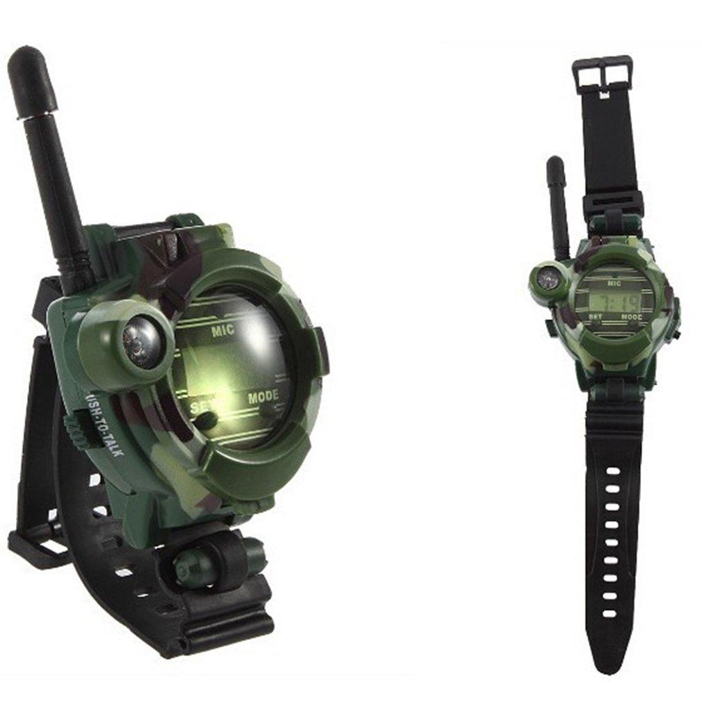 Walkie-Talkie Watch Children'S Camouflage Military Multi-Function Outdoor Interactive Intercom Watch Toy