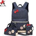 ATTRA-YO Chica Mochilas escolares Para Adolescentes mochila set las mujeres de hombro bolsas de viaje 3 Unids/set LM3582ay2 mochila mochila mochila