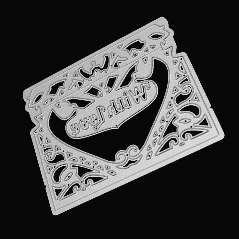 112x91mm scrapbooking DIY with loveframe Shape Metal steel cutting die flower Shape Book photo album art card Dies Cut