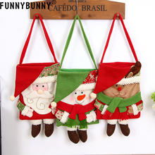 FUNNYBUNNY Christmas Stocking Decoration Santa Candy Bag Gift Bags Jewelry Candies Clothing Accessories