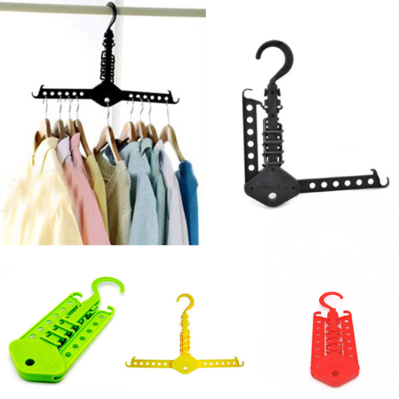New Multi-Functional Space Saving Folding Clothes Hanger Clothing Drying Rack