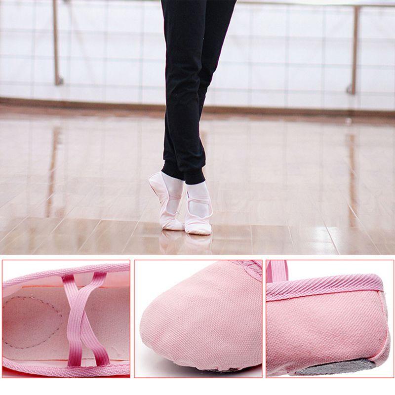 Tela di canapa di Balletto Pointe Scarpe Fitness Ginnastica Pantofole per I Bambini Dei Bambini del bambino pattini della ragazza del bambino 2019 scarpe di Nuovo Modo di Arrivo