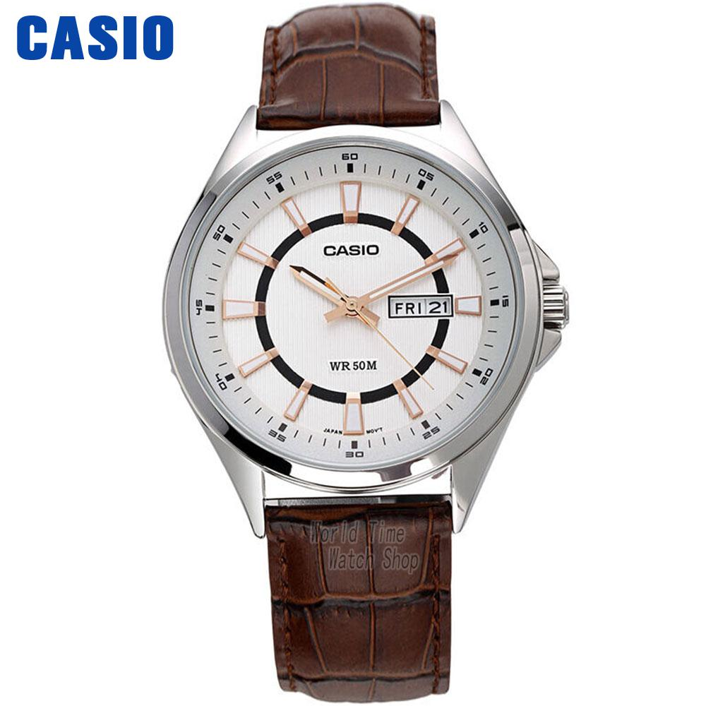 Casio watch Simple trend quartz men watch belt watch MTP-E108L-1A MTP-E108L-7A casio watch fashion trend ms quartz watch she 4048pgl 6a