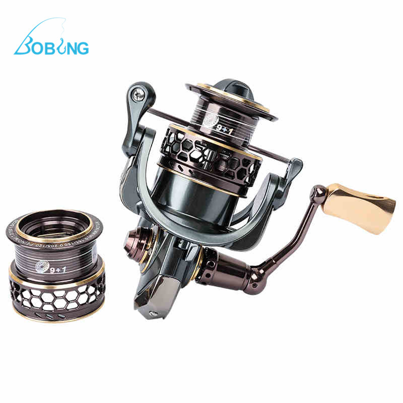 3000 5.2:1 10BB Spinning Fishing Reel Fish Wheel With Shallow Spare Spool Pool Sea Lake Outdoor Fishing Tackle Tool Accessory 10 1bb spinning fishing reel fishing tackle tool accessory super fast artificial bait sea fishing wheel dual bearing system
