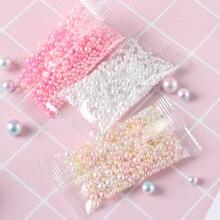 500 шт./пакет 2,5-5 мм разноцветные Круглые УФ Искусственный жемчуг из смолы бусины без бусины с отверстиями DIY ювелирные изделия ожерелье для ручной работы