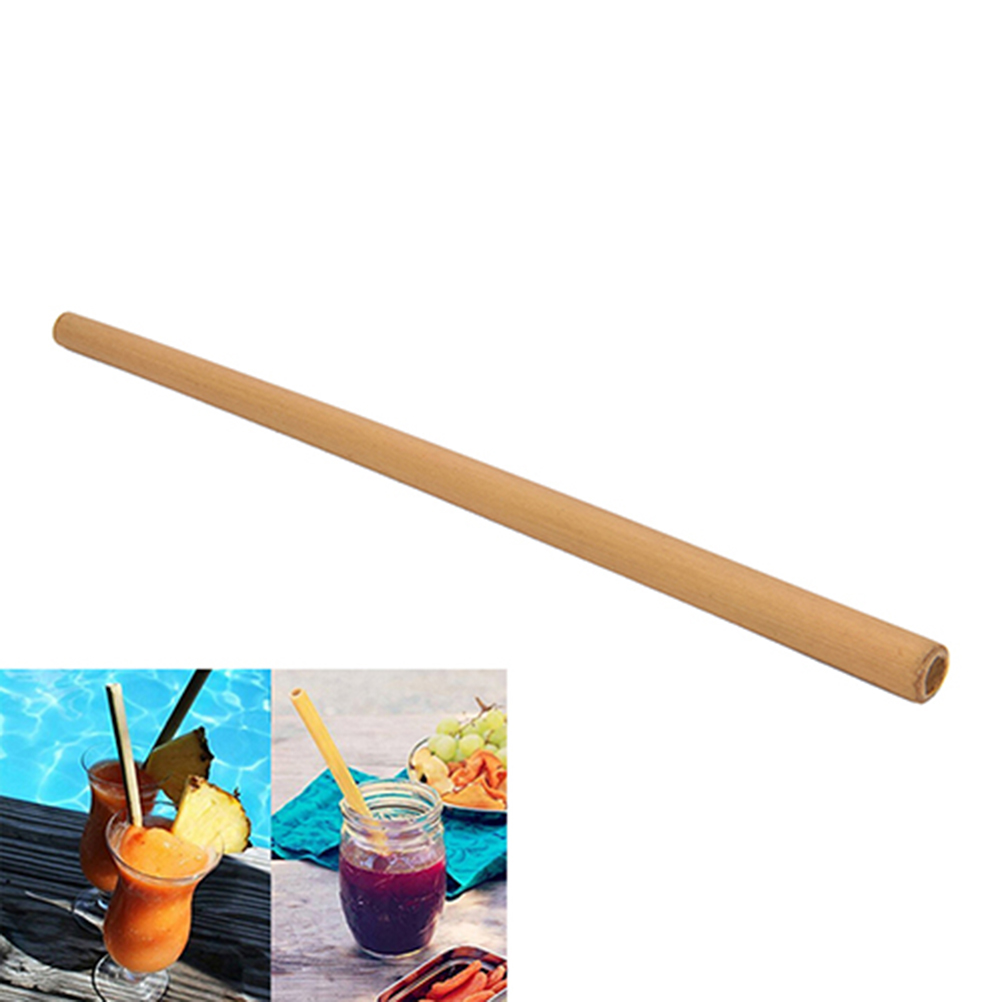 12x Bamboo Straws Eco-Friendly and Natural 20