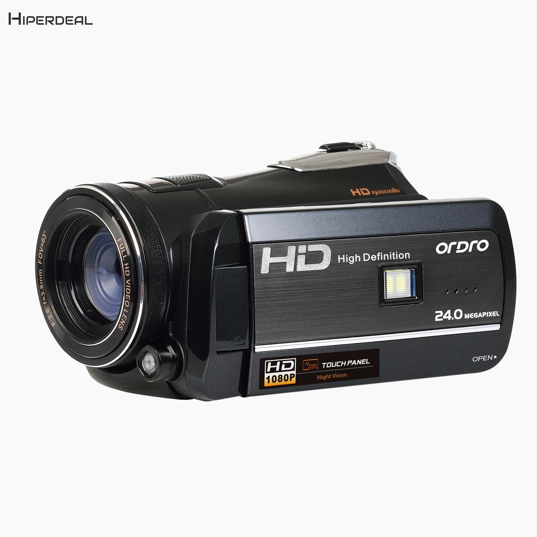 HIPERDEAL ORDRO HDV-D395 18X Numérique Zoom Sony CMOS 1080 p FHD Caméscope de Vision Nocturne WIFI Caméra Vidéo Sourire Visage capture BAY24