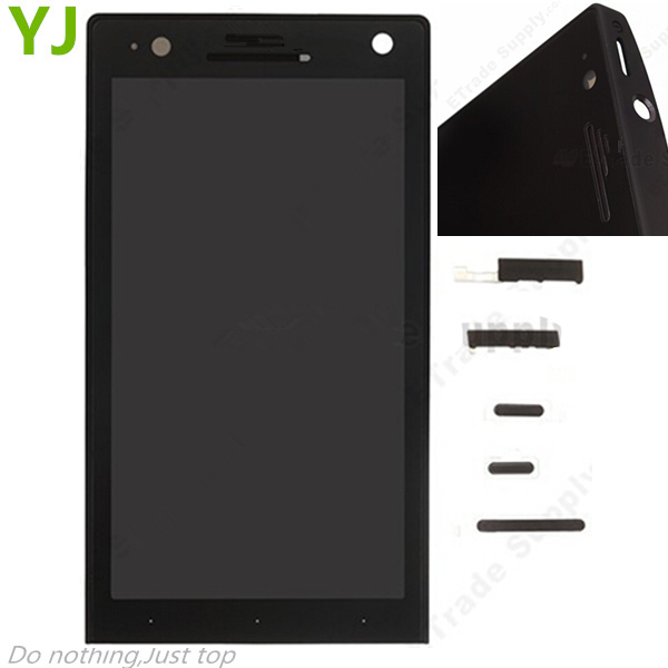 HK free shipping LCD Screen and Digitizer Assembly with Front Housing for Sony Xperia S LT26i - Black