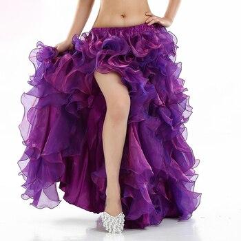 c3a9b4572 8 colores rendimiento 2016 nueva ropa de danza del vientre faldas largas  Maxi falda de danza ...