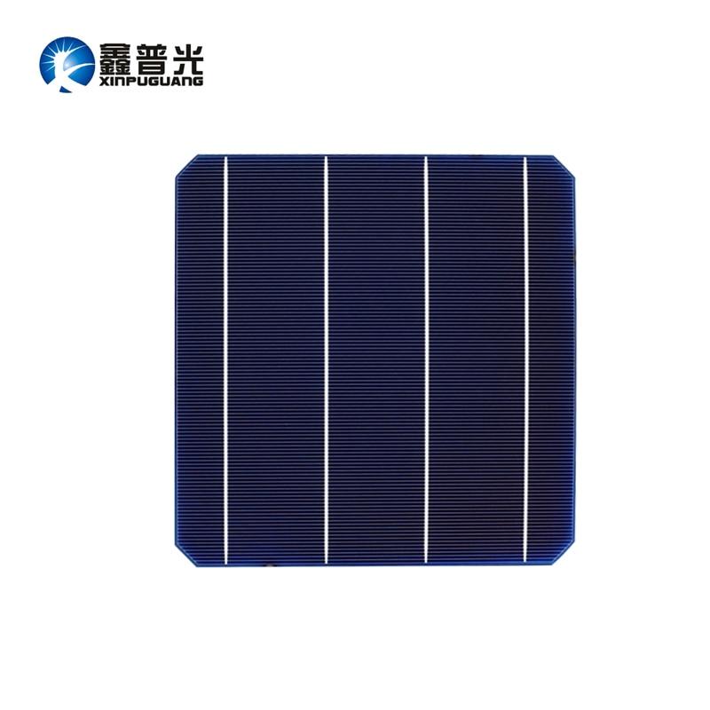 XINPUGUANG 50PCS 4.8w mono cell 156*156MM PV Photovoltaic monocrystalline Silicon DIY 240w solar panel 0.5v Grade A efficient 100pcs 156 58 5mm mono solar cell kits monocrystalline photovoltaic silicon solar cells high efficiency 6x2 for diy solar panel