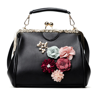 Women Bag Female Handbags Leather Crossbody Tote Over Shoulder Shell Bag Flower Fashion Sling 2018 Luxury