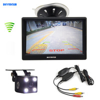 Wireless Waterproof CCD Reverse Backup Car Camera LED Night Vision 5 Inch LCD Display Rear View