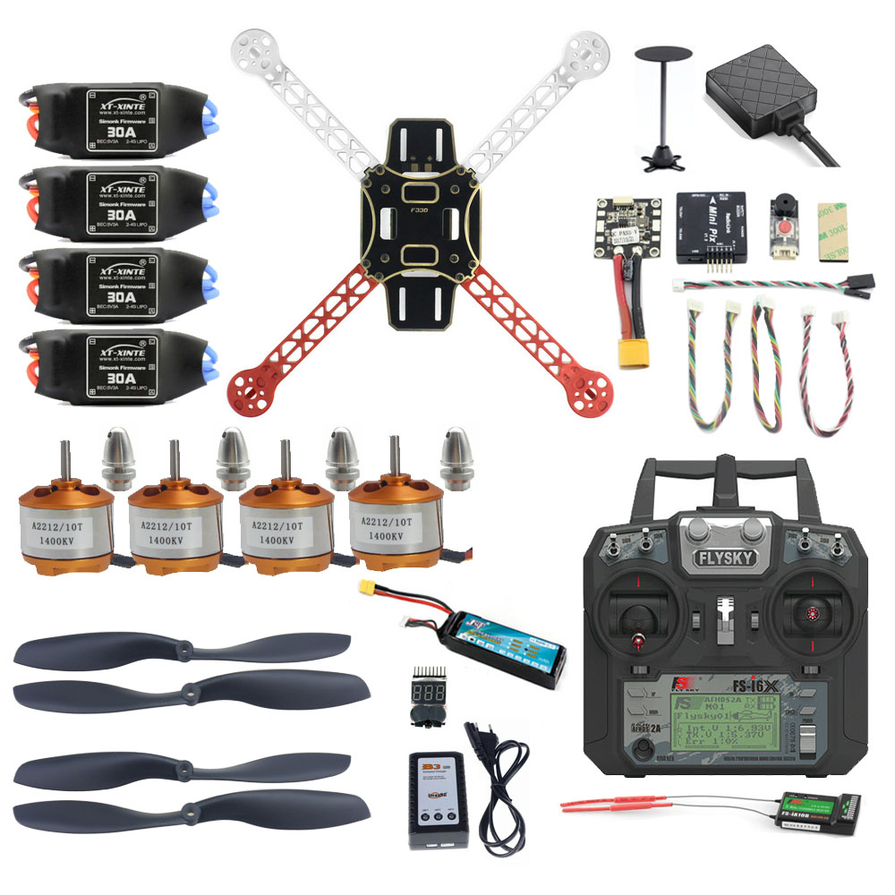 Pro DIY Mini 330 Full Kit FPV Drone 2.4G 10CH RC 4-Axis Drone Radiolink Mini PIX M8N GPS PIXHAWK Altitude Hold Mode Part diy fpv mini drone qav210 zmr210 race quadcopter full carbon frame kit naze32 emax 2204ii kv2300 motor bl12a esc run with 4s