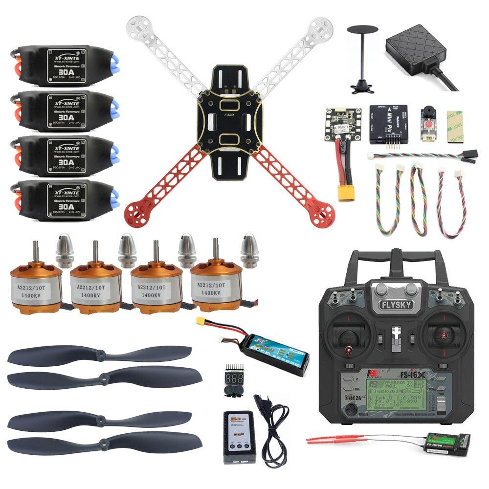 Pro bricolage Mini 330 Kit complet FPV Drone 2.4G 10CH RC 4 axes Drone Radiolink Mini PIX M8N GPS PIXHAWK pièce de Mode de maintien d'altitude