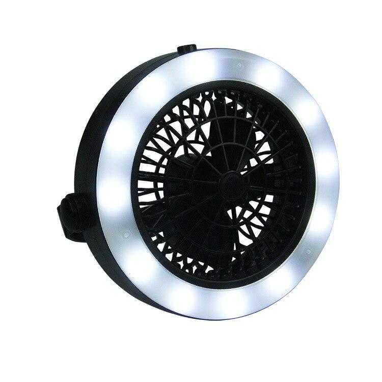 2 In 1 Portatile Di Campeggio Fan Luce Tenda Lampada Led Usb Torcia Elettrica Lanterna Batteria Ricaricabile Ventole Luci Con Appeso A Mano Gancio