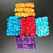 12 шт./лот мини шелк искусственный букет роз Свадебные украшения Бумага цветок для DIY Скрапбукинг цветок мяч Дешевые Флорес цветок