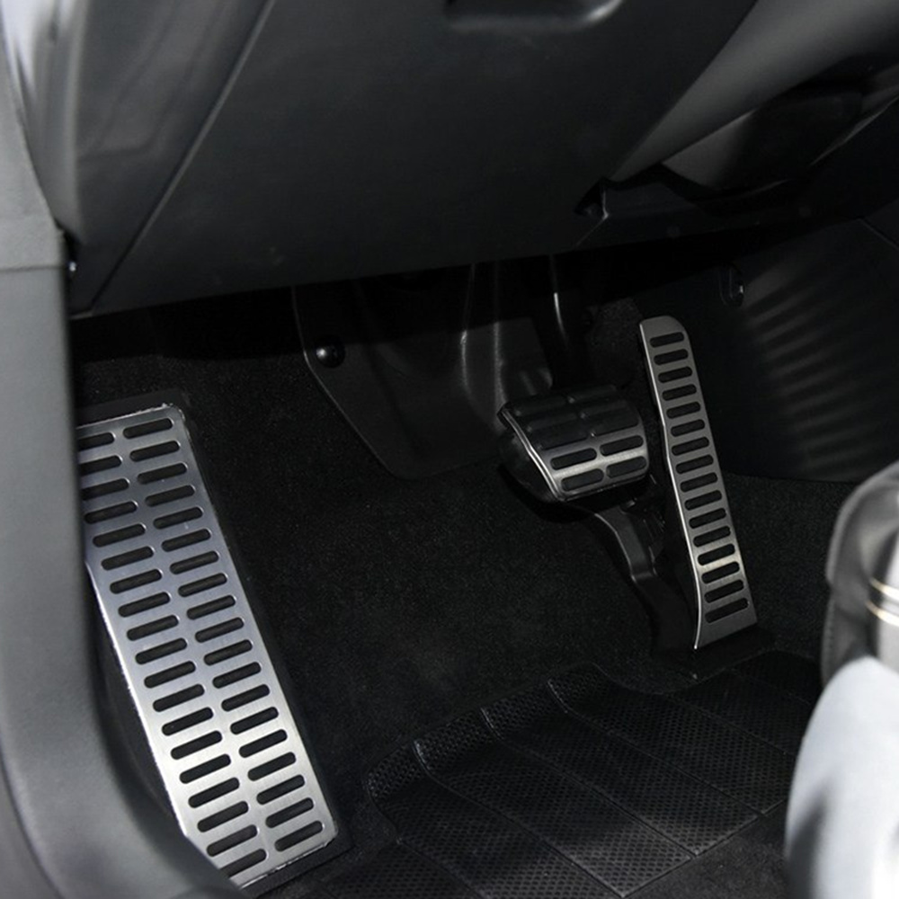 Image 5 - VCiiC Stainless Steel Pedal Pads Foot Rest for Skoda Octavia A5 For Volkswagen  VW Golf 6 Jetta MK5 Scirocco Tiguan 2015-in Pedals from Automobiles & Motorcycles