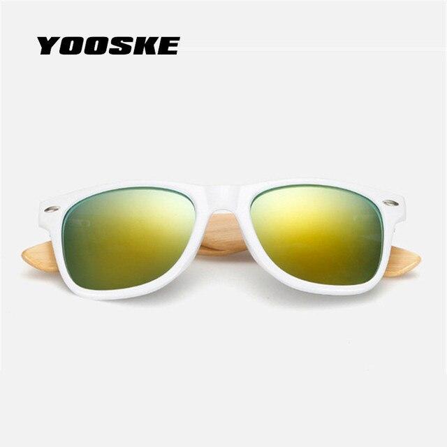 YOOSKE 29 Couleur Hommes Bambou lunettes de Soleil pour Femmes Marque  Designer Lunettes En Bois Jambe f048b87bf8b8