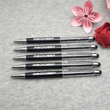 latest wedding design Diamond  smart phone touch pen Crystal pens ballpen Free customized with my date and names