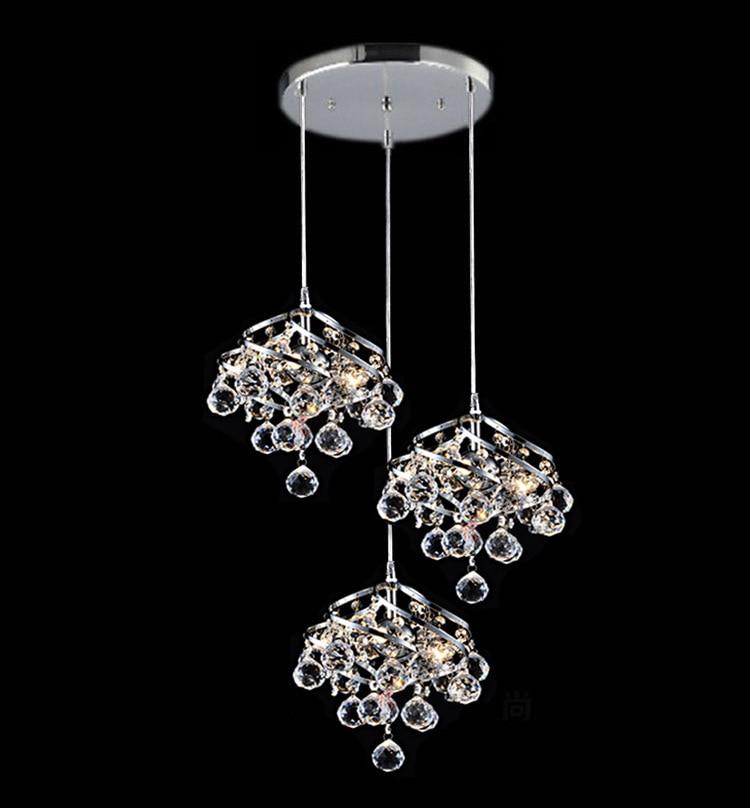 Creative three-head restaurant lamp led crystal chandelier modern minimalist bar dining room staircase dining chandelierCreative three-head restaurant lamp led crystal chandelier modern minimalist bar dining room staircase dining chandelier