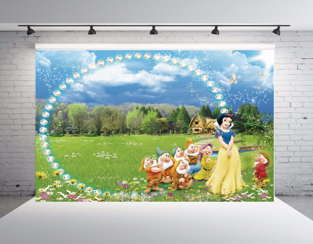 SHENGYONGBAO Vinyl Photography Backdrops Props Snow White Princess theme Digital Photo Studio Background NHSHD 10119 in Background from Consumer Electronics