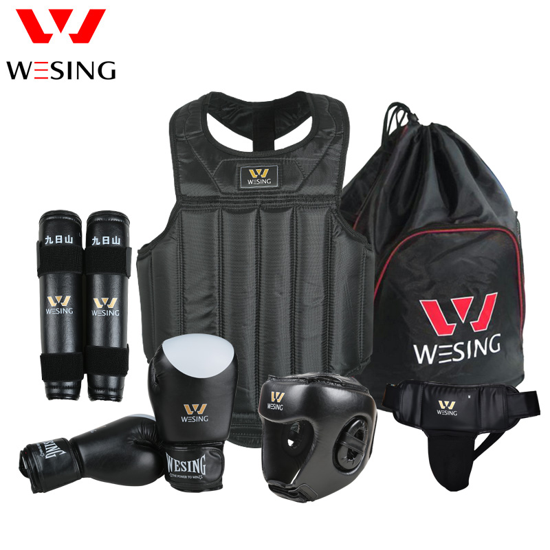 Wesing wushu sanda kit conjunto de 6 piezas de protección de la - Ropa deportiva y accesorios