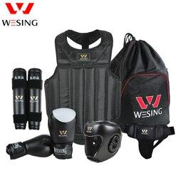 Wesing wushu sanda  kit 6 piece set  protective gear head protection supporter flanchard sanda protective