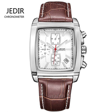 JEDIR  fashion casual military chronograph quartz watch men luxury waterproof analog leather wrist watch man free shipping 2028